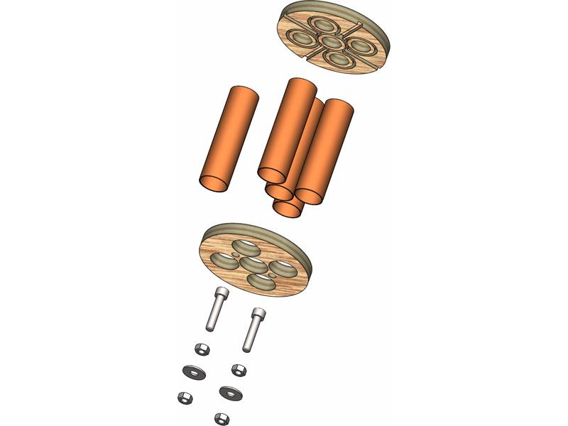 Klima – držák motorů 75 mm, 5×18 mm