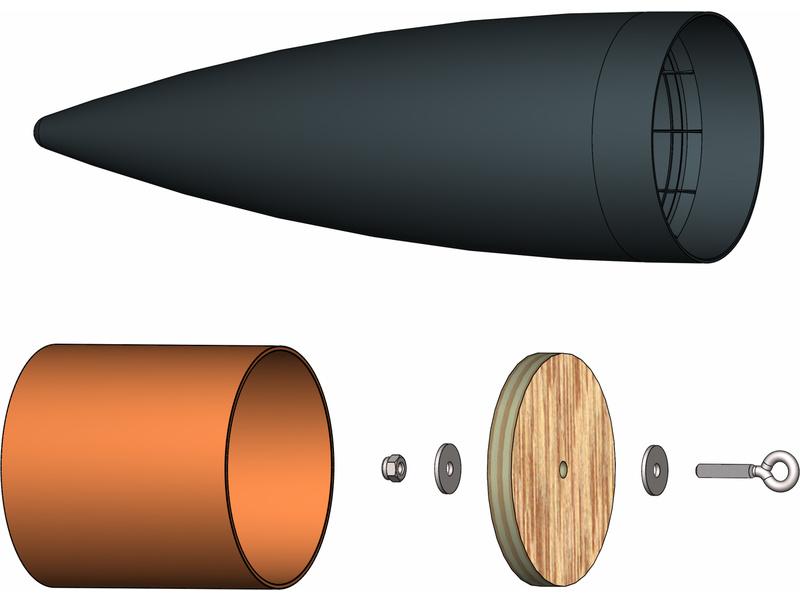 Klima – špice kompletní 75 mm (černá)
