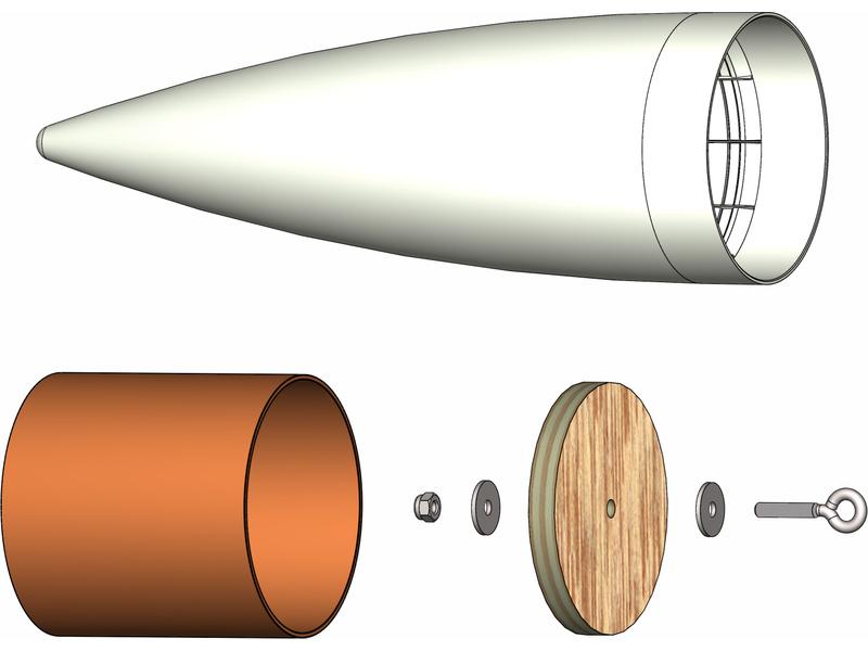 Klima – špice kompletní 75 mm (bílá)
