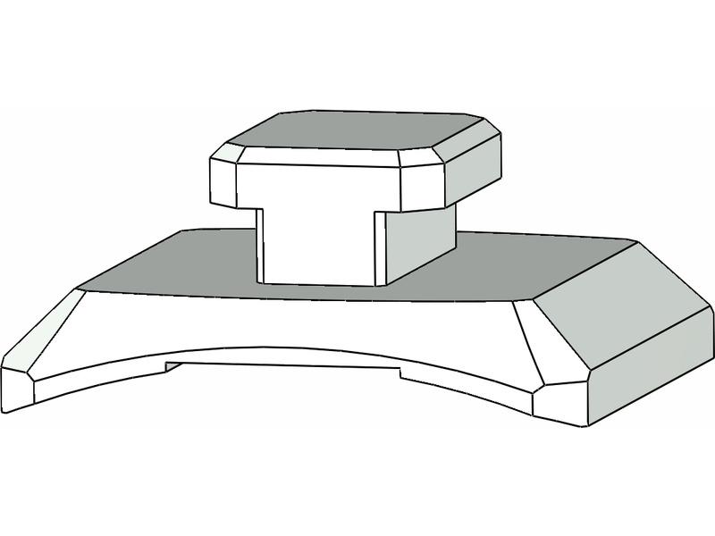 Klima – vodící jezdec pro kolejnici 5 mm (2 ks)