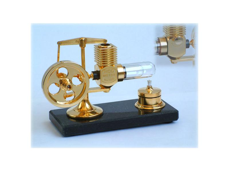 Krick Motor Stirling velký zlatý smontovaný