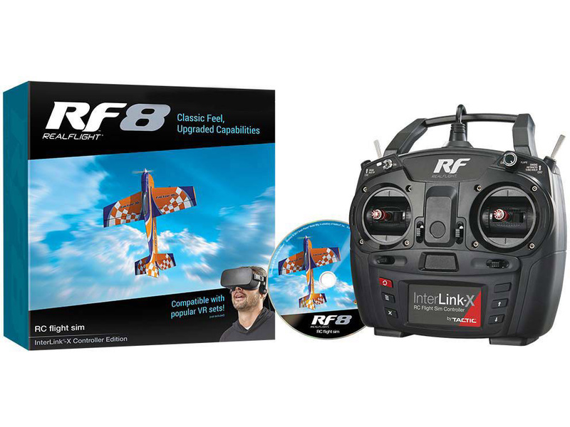 RealFlight Simulátor RF-8 s ovladačem Interlink-X