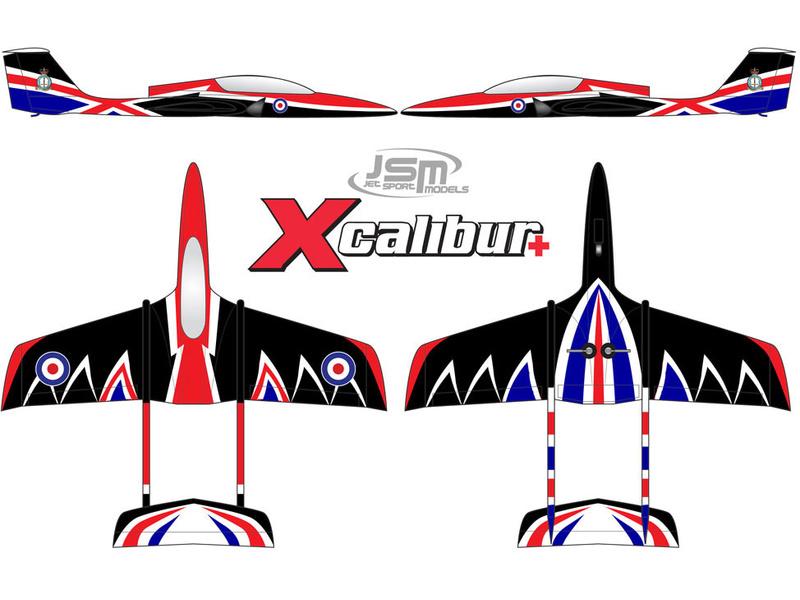 JSM Xcalibur+ 2.3m ARF RAF