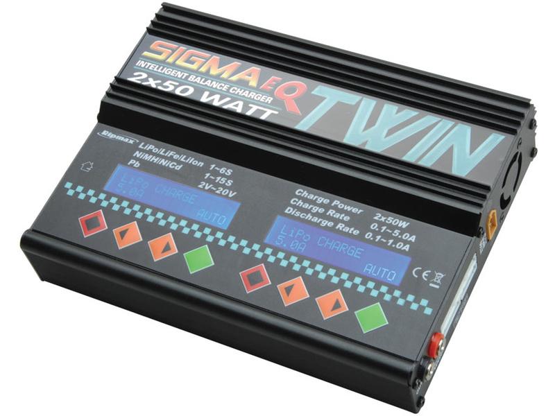 Nabíječka Pro-Peak Sigma EQ Twin 2x50W AC/DC