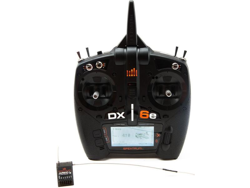 Spektrum DX6e DSMX Mód 1-4, AR610 SPM6650EU
