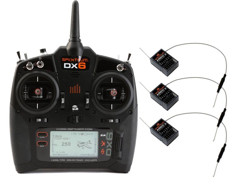 Spektrum DX6 DSMX, 3x AR610