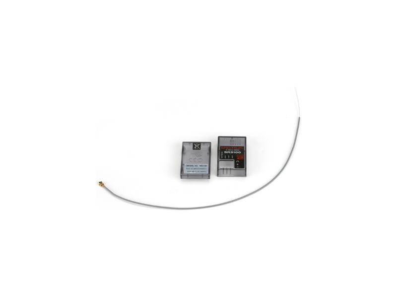Spektrum - anténa a krabička prijímače SR3100 SPM9005