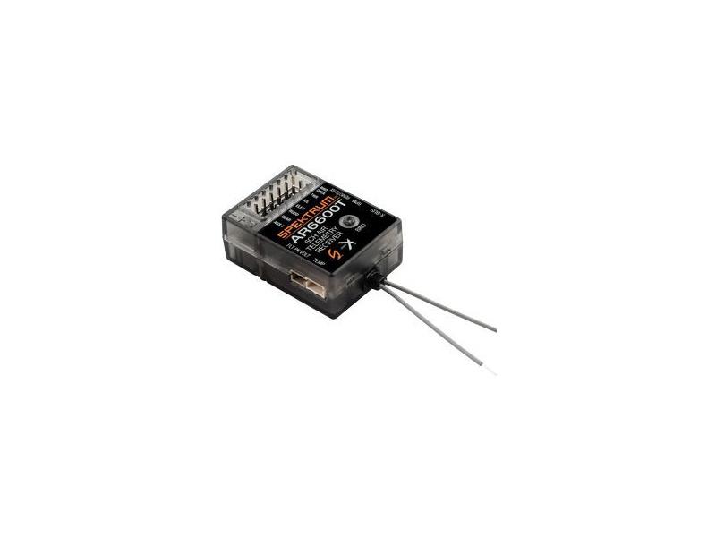 Spektrum přijímač AR6600T DSM2/DSMX 6CH s telemetrií SPMAR6600T