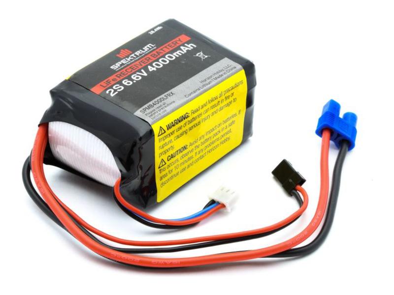 Spektrum - baterie přijímače LiFe 6.6V 4000mAh SPMB4000LFRX