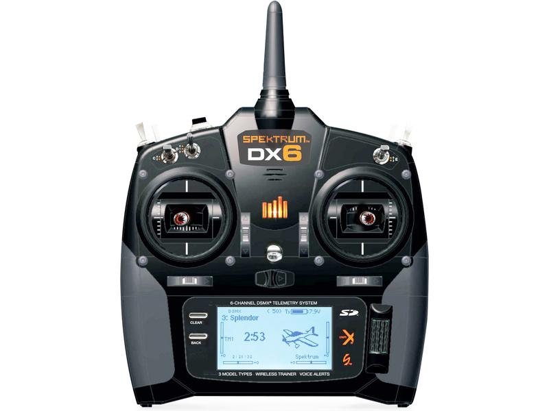 Spektrum DX6 DSMX Mód 1-4 pouze vysílač SPMR6700EUC
