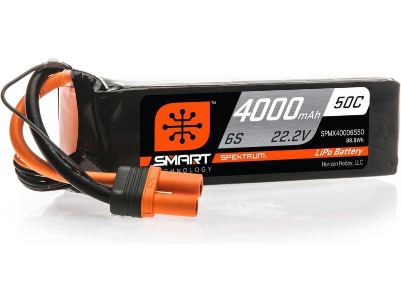 Spektrum Smart LiPo 22.2V 4000mAh 50C IC5