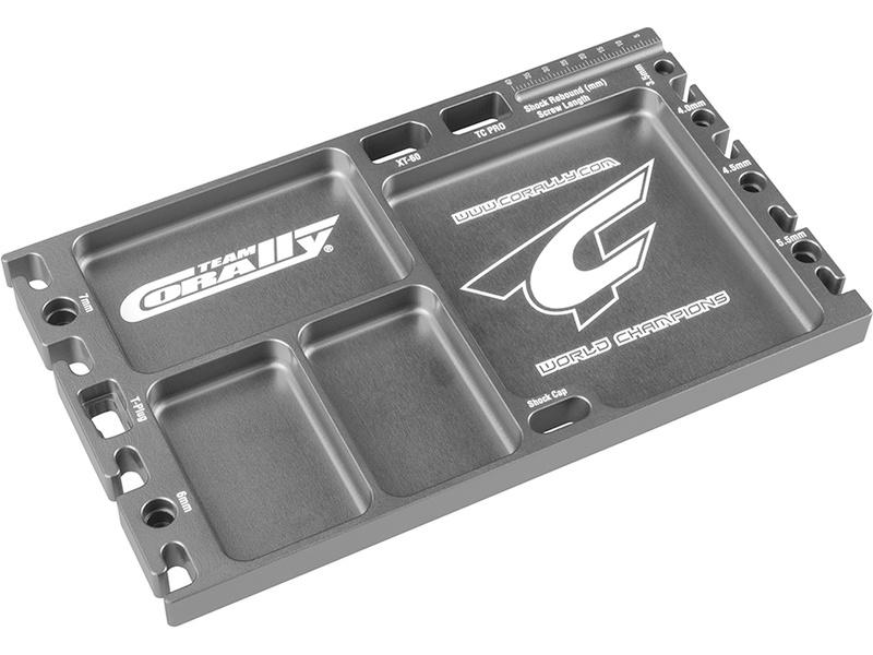 Corally Multifunkční deska CNC hliník šedá C-16305
