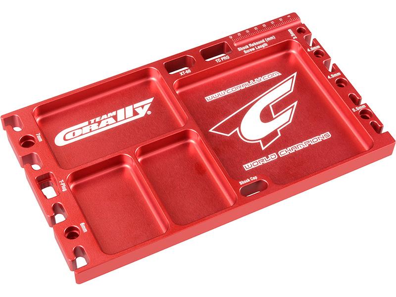 Corally Multifunkční deska CNC hliník červená C-16306