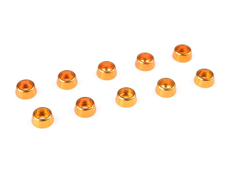Corally podložka pod vál. šroub M2.5 7mm hliník zlatá (10) C-31260
