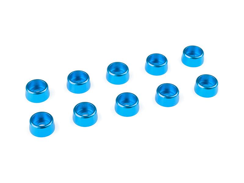 Corally podložka pod vál. šroub M3 8mm hliník modrá (10) C-31274