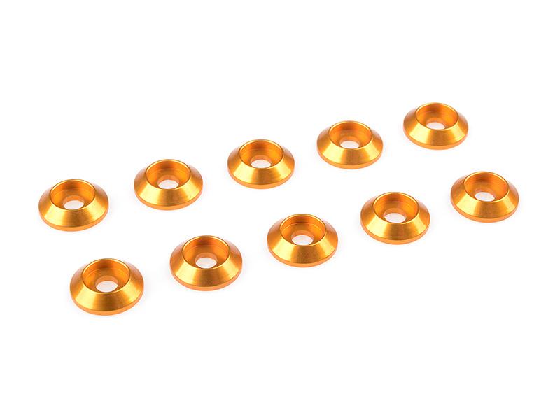 Corally podložka pod půl. šroub M3 10mm hliník zlatá (10) C-31300