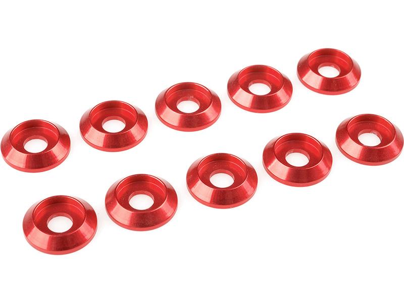Corally podložka pod půl. šroub M4 12mm hliník červená (10) C-31325
