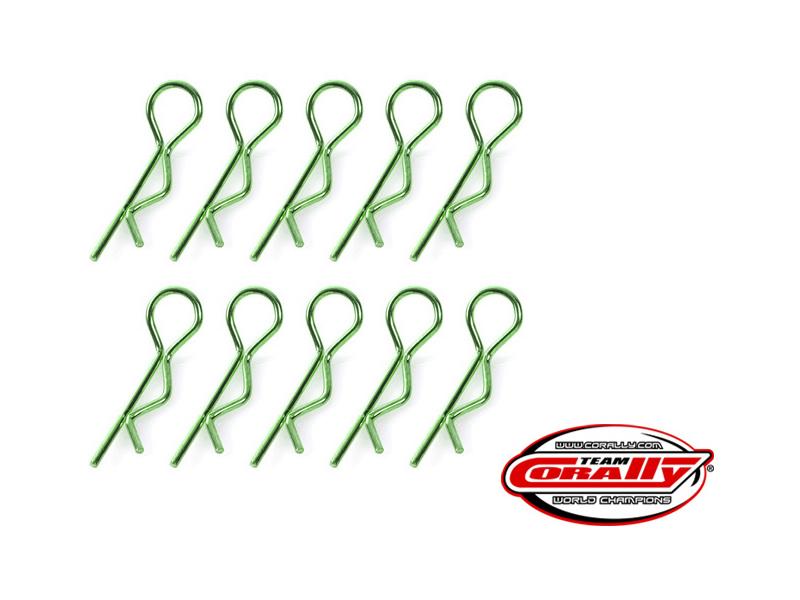 Corally sponka karosérie zahnutá střední zelená (10) C-35110