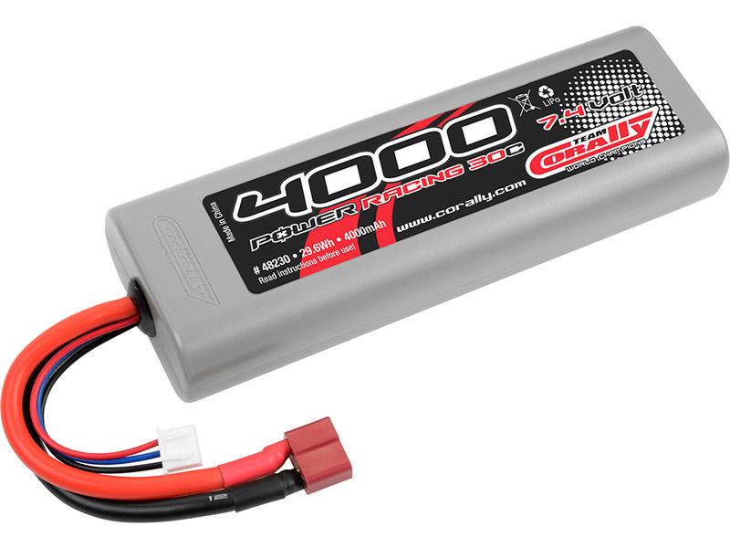 Corally LiPol Power Racing 4000mAh 7.4V 30C Deans C-48230-D