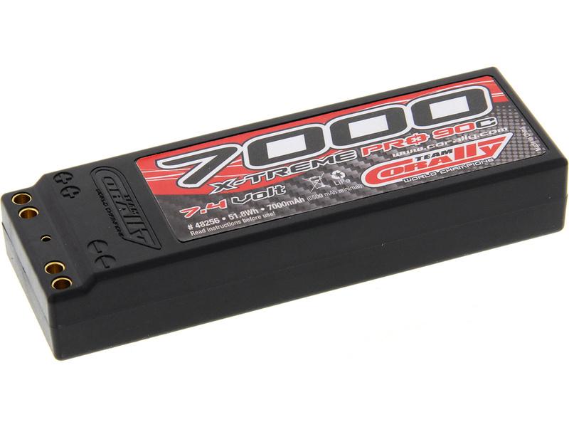 Corally LiPol X-Treme Pro 7000mAh 7.4V 90C dual gold 4mm EFRA/BRCA C-48256