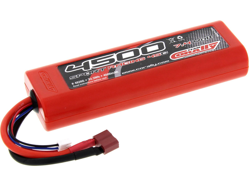 Corally LiPol Sport Racing 4500mAh 7.4V 45C Deans C-48265-D