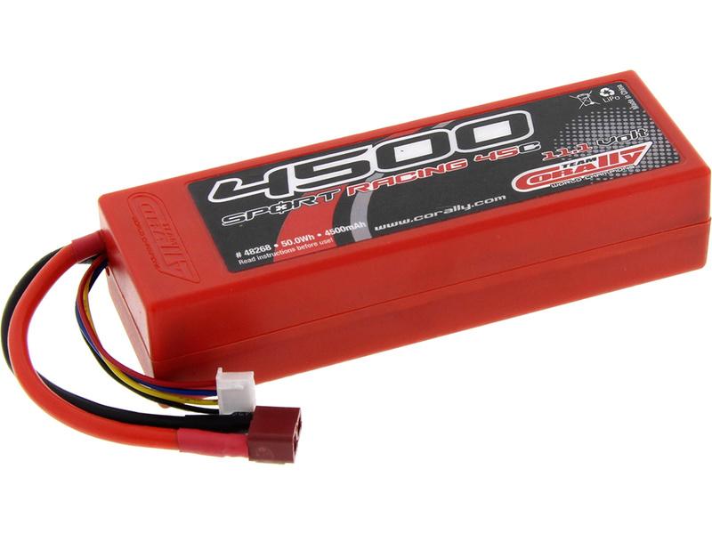 Corally LiPol Sport Racing 4500mAh 11.1V 45C Deans C-48268-D