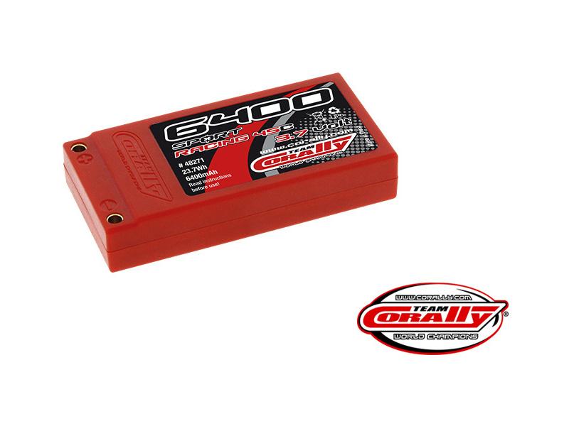 Corally LiPol Sport Racing 6400mAh 3.7V 45C gold 4mm C-48271