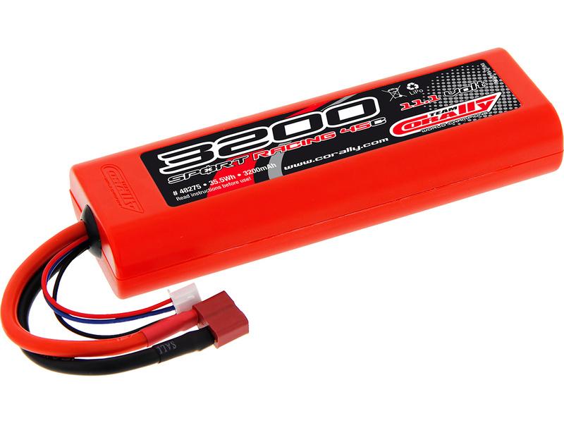 Corally LiPol Sport Racing 3200mAh 11.1V 45 C Deans C-48275-D