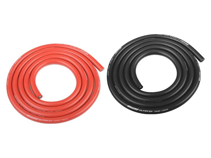 Corally silikonový kabel Super Flex 10AWG červený + černý (1+1m)