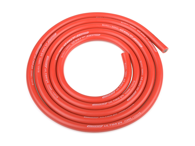 Corally silikonový kabel Super Flex 12AWG červený (1m) C-50110