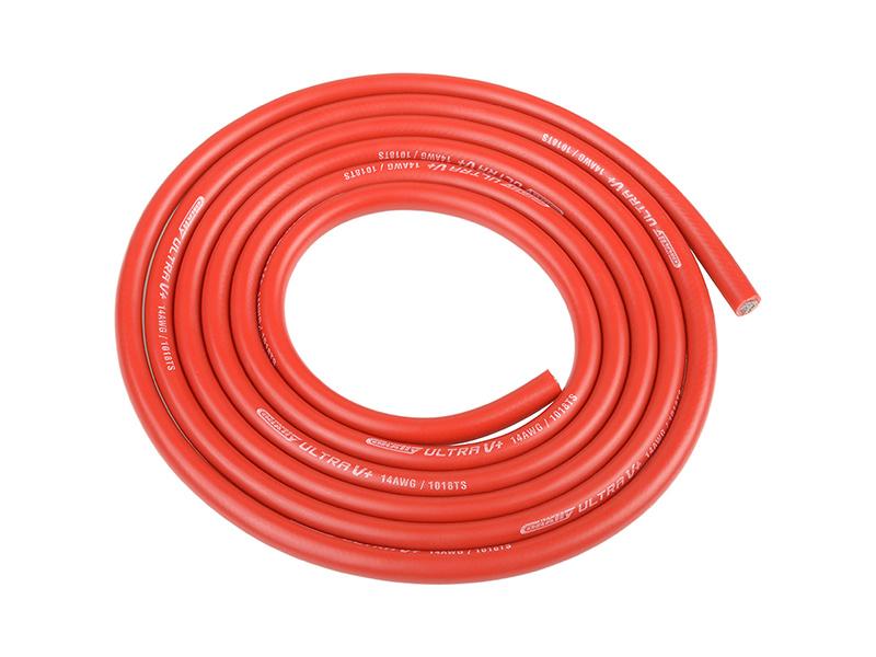 Corally silikonový kabel Super Flex 14AWG červený (1m) C-50120