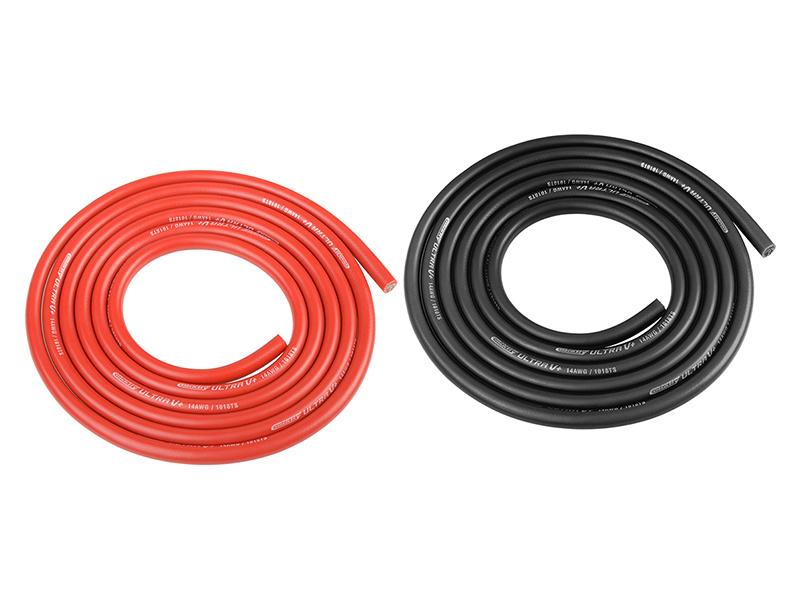 Corally silikonový kabel Super Flex 14AWG červený + černý (1m) C-50122