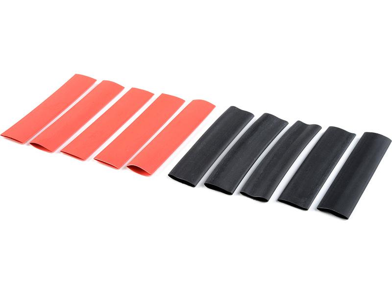 Corally smršťovací bužírka 9.5mm červená + černá (5+5) C-50224