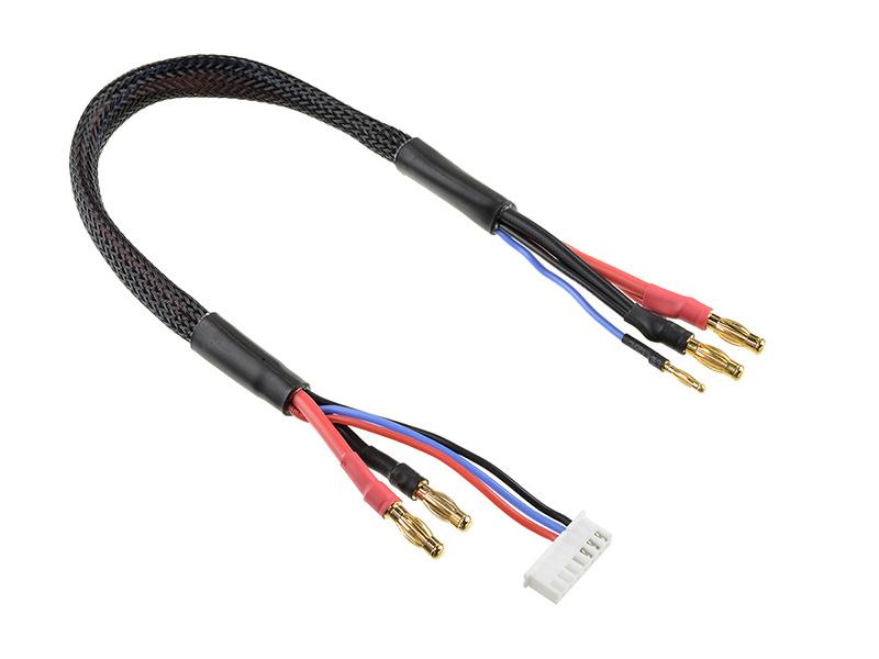Corally nabíjecí kabel s banánky a 6S XH -> 4mm/2mm 30cm C-50290