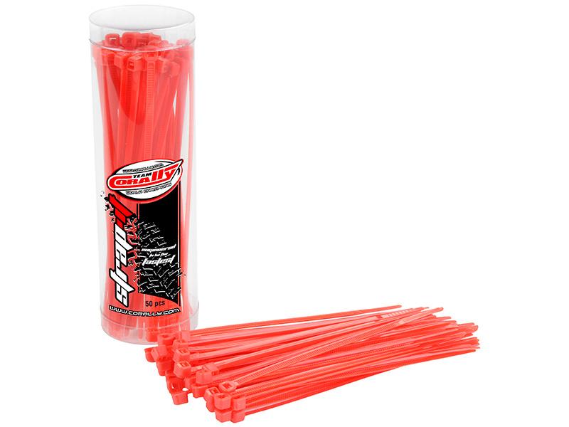 Corally stahovací pásek na kabely 2.5x100mm červený (50) C-50500