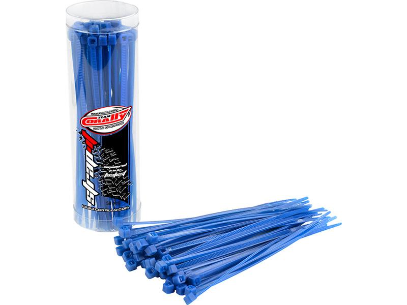 Corally stahovací pásek na kabely 2.5x100mm modrý (50) C-50501