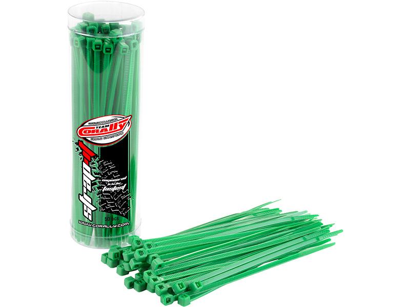 Corally stahovací pásek na kabely 2.5x100mm zelený (50) C-50502
