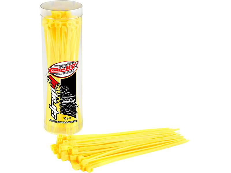 Corally stahovací pásek na kabely 2.5x100mm žlutý (50) C-50505