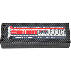 Team Orion LiPol Carbon Pro 7.4V 6000mAh 100C Tubes