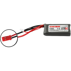 Team Orion LiPol 1000mAh 2S 7.4V 50C JST
