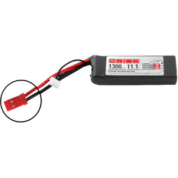 Team Orion LiPol 1300mAh 3S 11.1V 50C JST LED