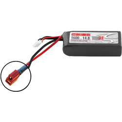 Team Orion LiPol 1600mAh 4S 14.8V 50C Deans LED