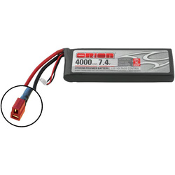 Team Orion LiPol 7.4V 4000mAh 50C Deans LED
