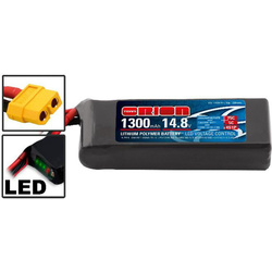 Team Orion LiPol Racing-D 1300mAh 14.8V 75C XT60
