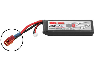 Team Orion LiPol 2700mAh 2S 7.4V 50C Deans LED / ORI60165