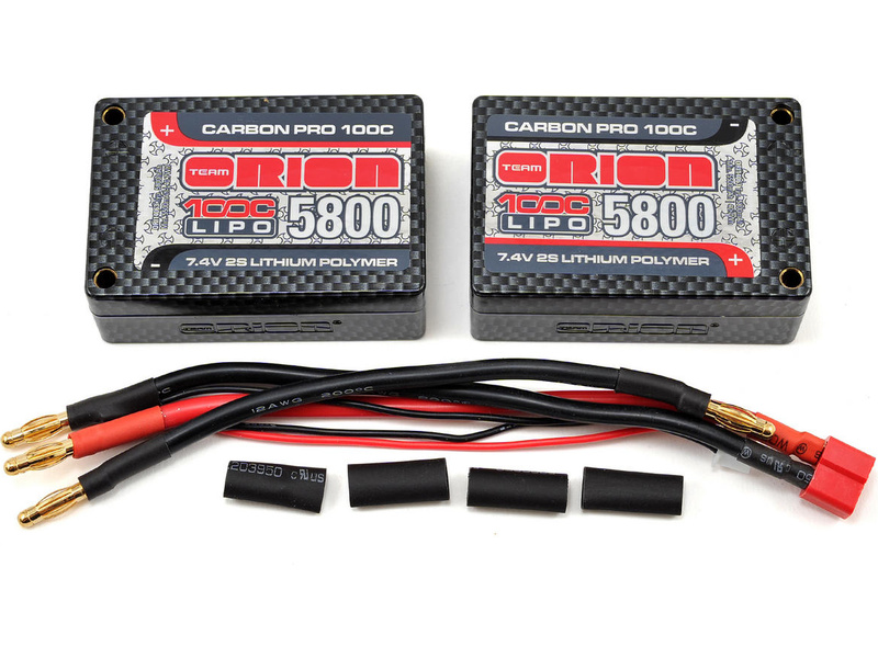 Team Orion LiPol Carbon Pro 7.4V 5800mAh 100C Tubes ORI14063