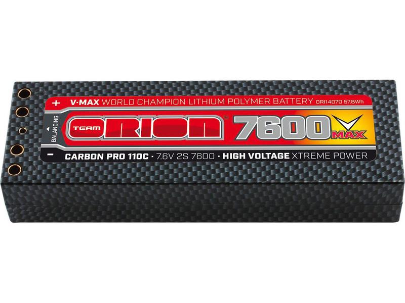 Team Orion LiPol V-Max 7600mAh 7.6V 110C Tubes ORI14070