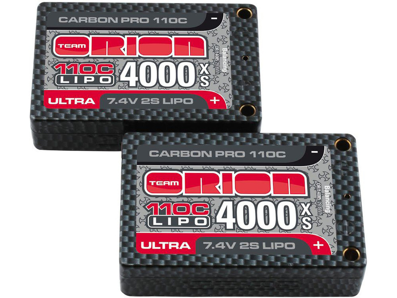Team Orion LiPol Carbon Pro 7.4V 4000mAh 110C Tubes ORI14085