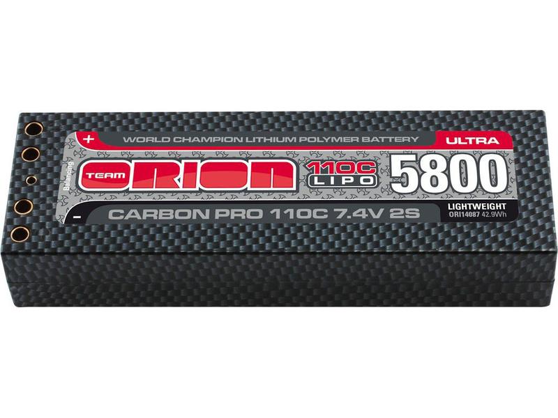 Team Orion LiPol Carbon Pro 7.4V 5800mAh 110C Tubes ORI14087