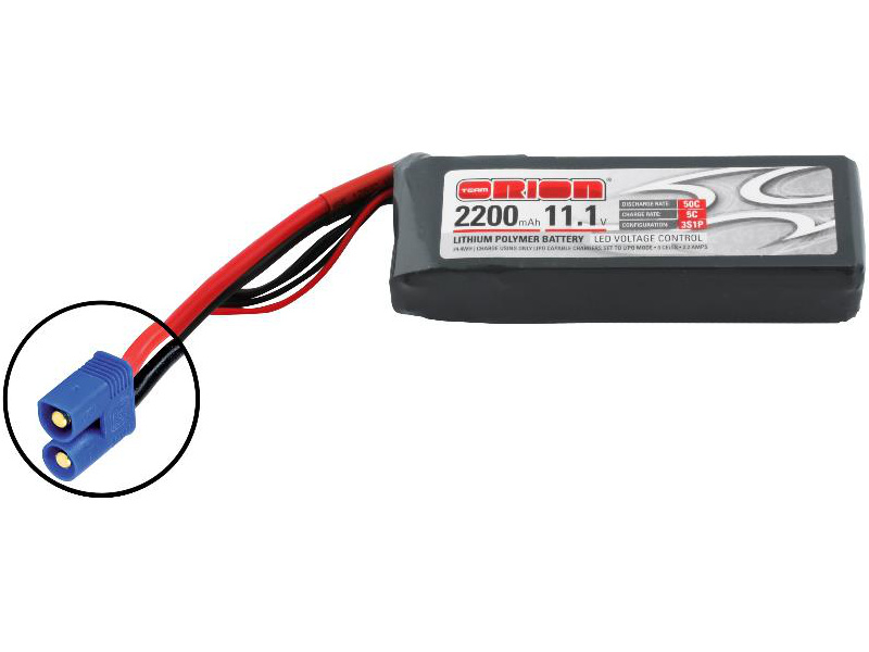 Team Orion LiPol 2200mAh 3S 11.1V 50C EC3 LED ORI60160